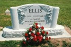 New Ellis family memorial headstone in Altamont's Union Cemetery